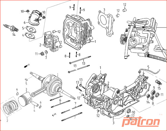 Ремонт 4-х тактных двигателей